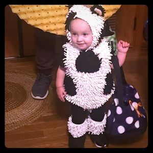 Pottery barn cow Halloween outfit